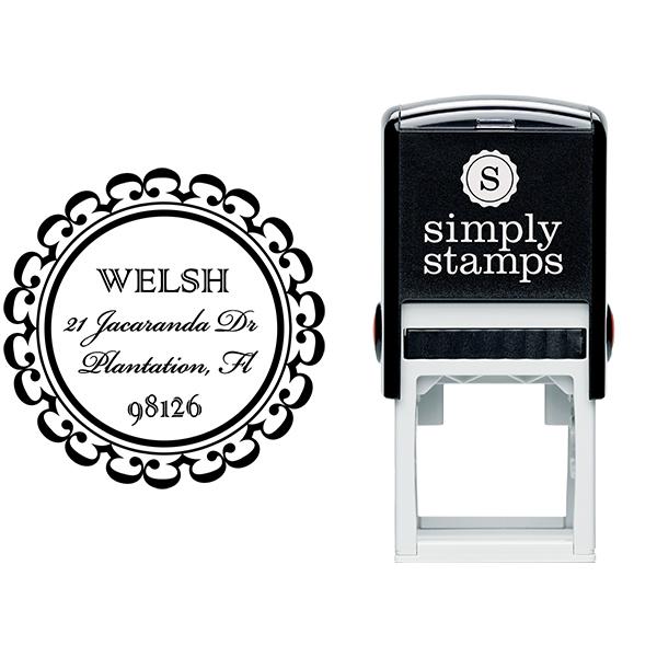 Welsh Round Address Stamp Body and Design