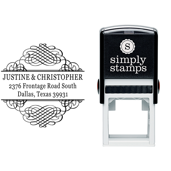 Justine Address Stamp Body and Design