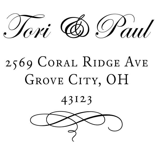 Grove Invitation Style Address Stamp