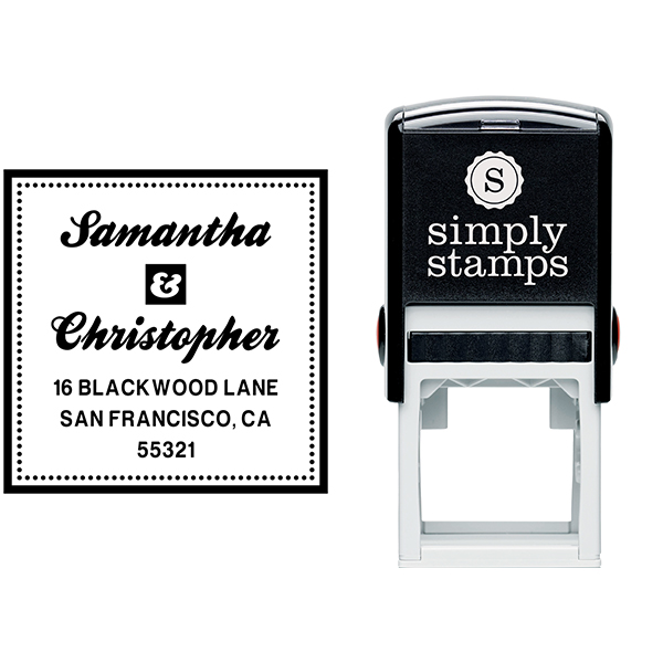 Blackwood Square Address Stamp Body and Design