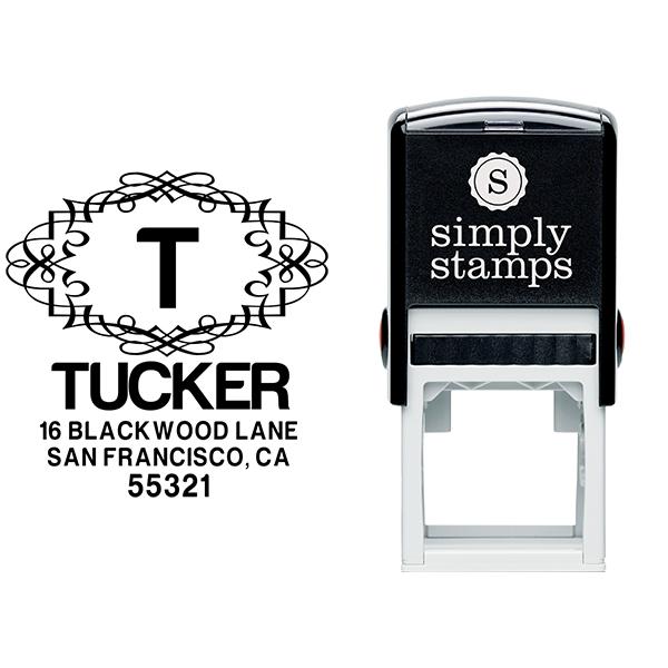 Blackwood Curve Diamond Address Stamp Body and Design