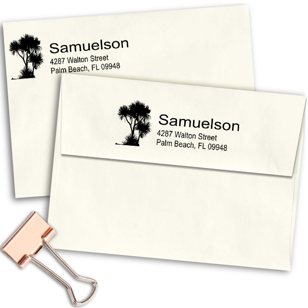 Walton Trees Address Stamp Imprint Example