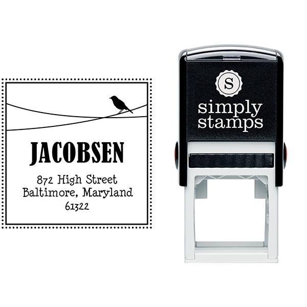 Jacobsen Bird Address Stamp Body and Design