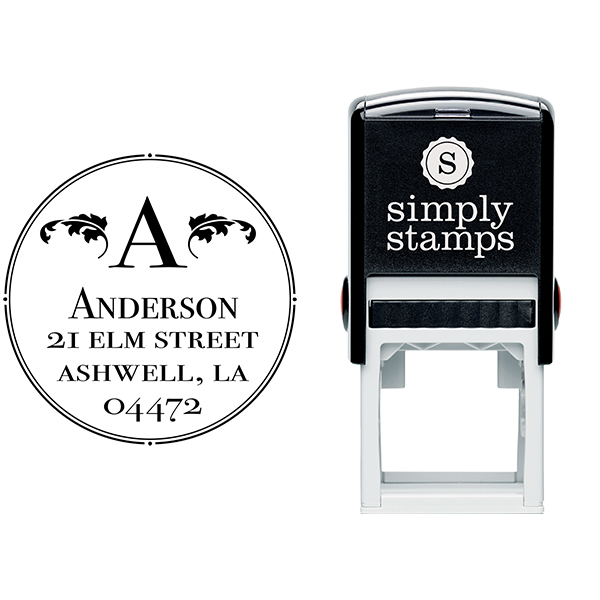 Ashwell Round Address Stamp Body and Design