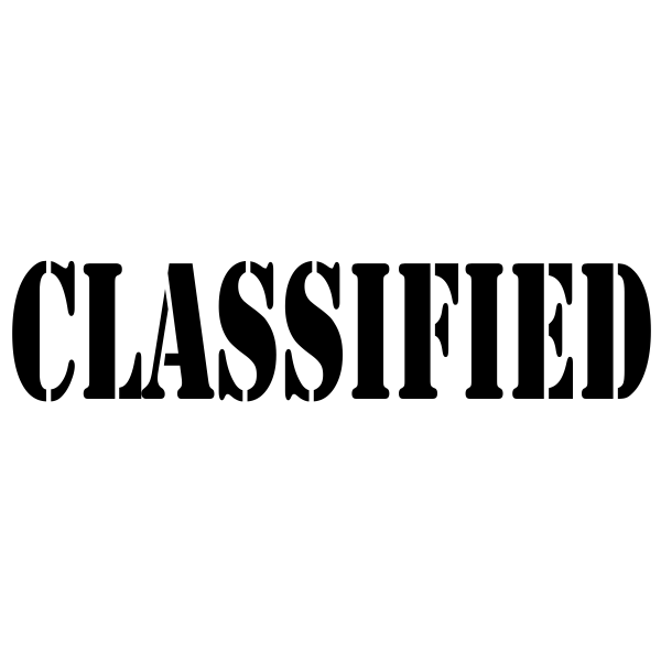 CLASSIFIED Stock Stamp