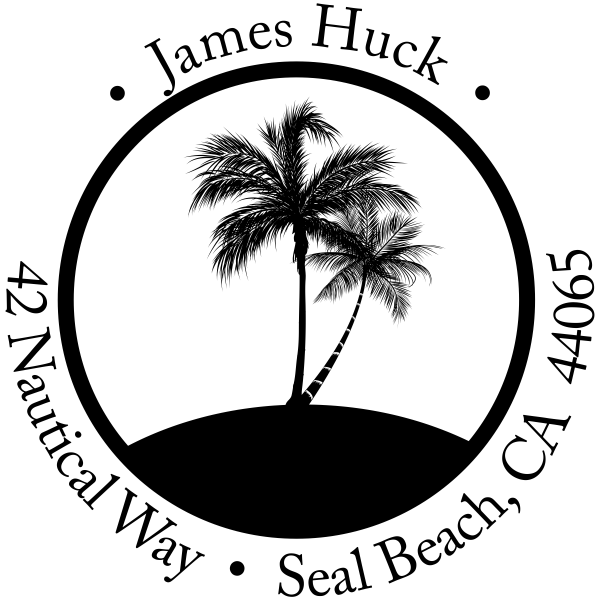 Palm Trees address stamper