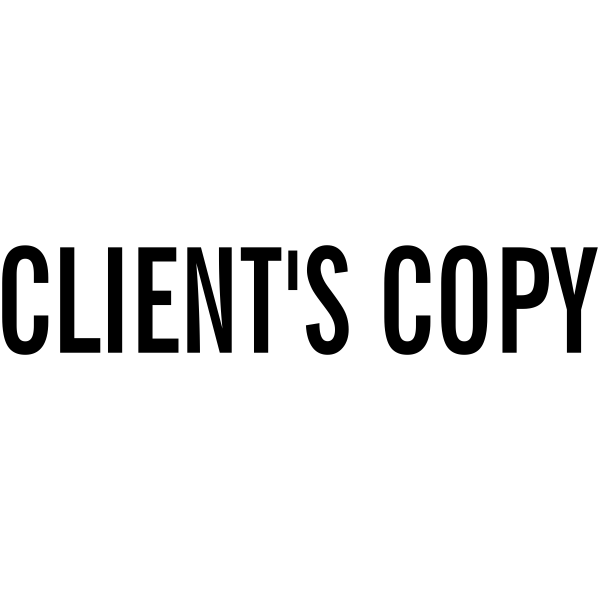 Client's Copy Stock Stamp Imprint