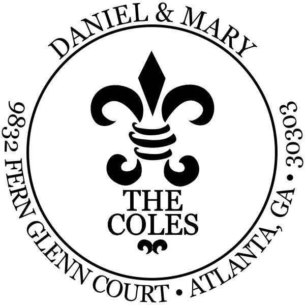Fern Court Round Address Stamp