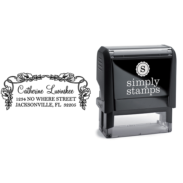Luoinskee Flowers Address Stamp Body and Design
