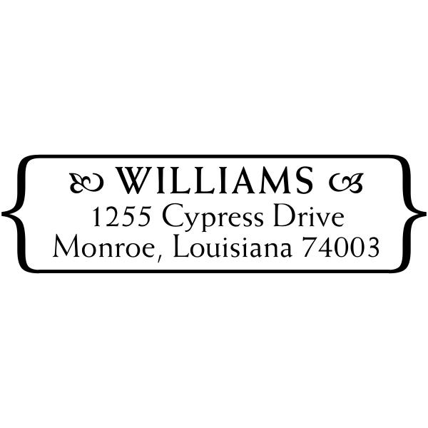 Oval rubber address stamp
