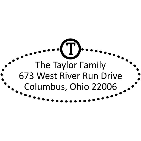 Taylor Oval Address Stamp