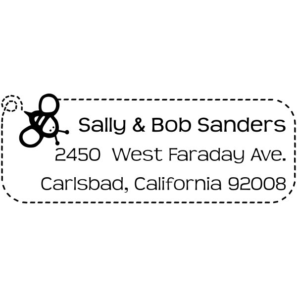 Sanders Bee Address Stamp