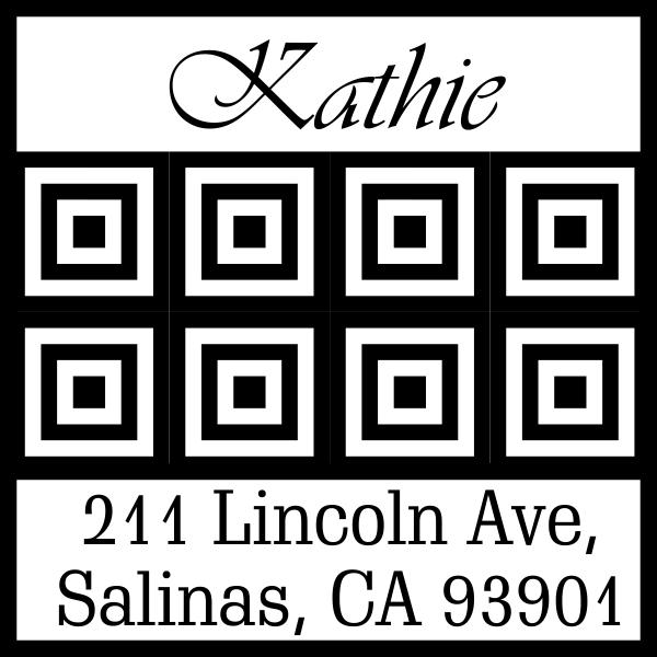 Lincoln Tile Square Address Stamp