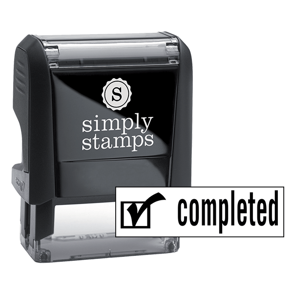 COMPLETED Checkmark Stock Stamp