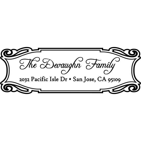 Devaughn Plate Address Stamp