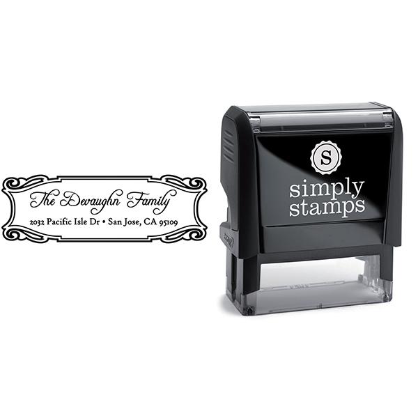 Devaughn Plate Address Stamp Body and Design