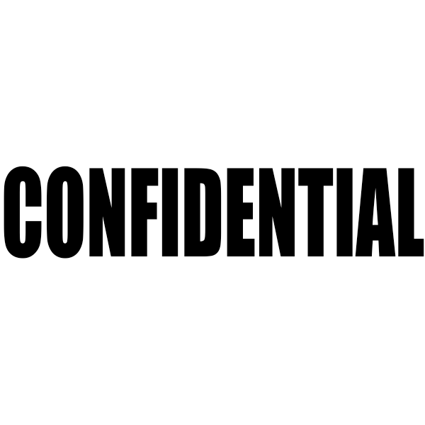 CONFIDENTIAL Bold Letter Stock Stamp Imprint