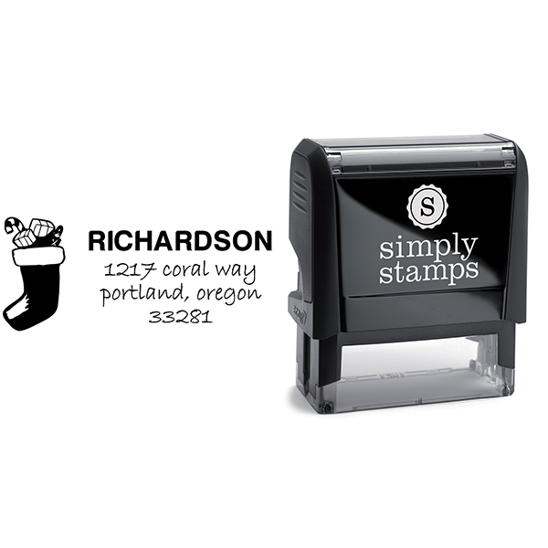 Richardson Stocking Address Stamp Body and Design