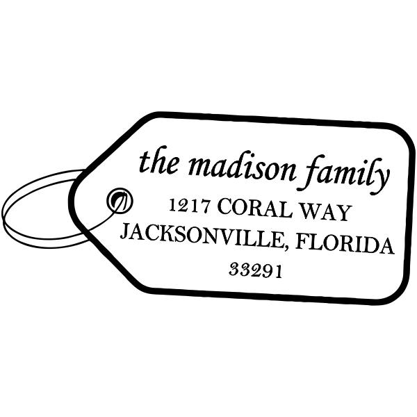 Madison Gift Tag Address Stamp