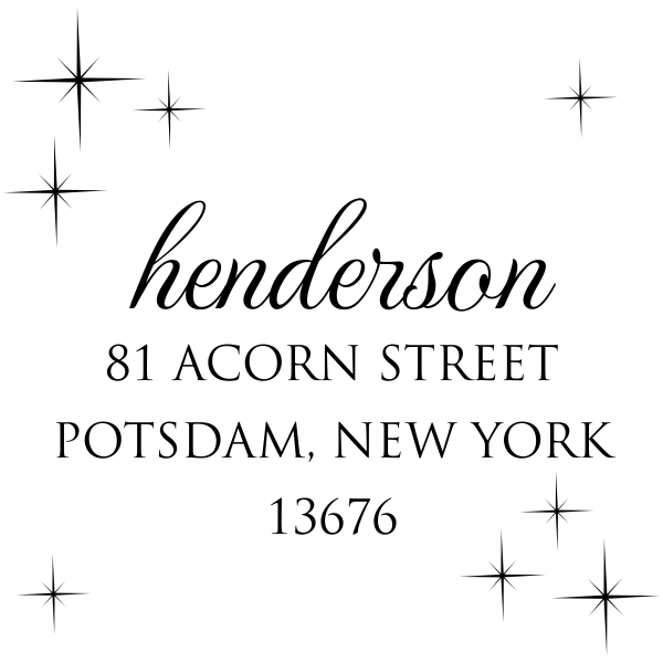 Henderson Twilight Address Stamp