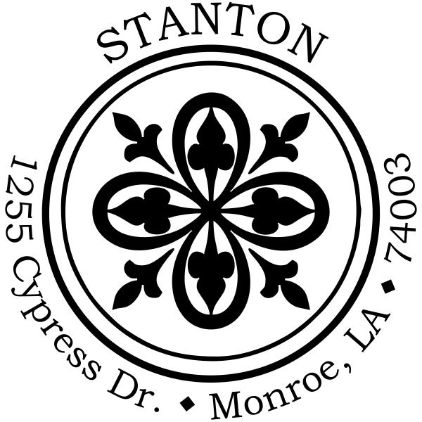 Stanton Deco Round Address Stamp