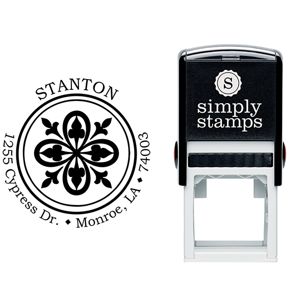 Stanton Deco Round Address Stamp Body and Design