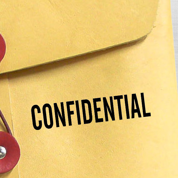 CONFIDENTIAL solid letter Stock Stamp
