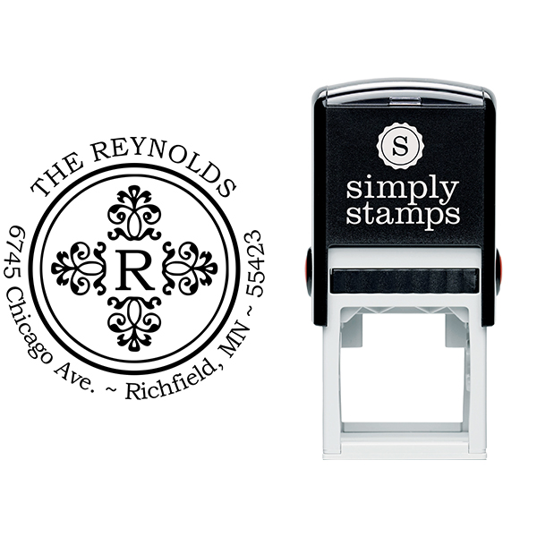 Reynolds Deco Round Address Stamp Body and Design