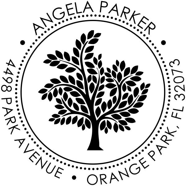 Tree rubber address stamp