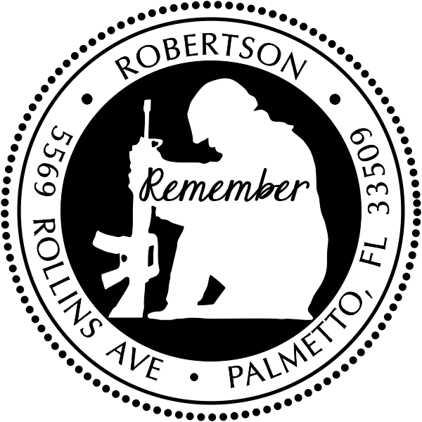Remember Our Soldiers Address Stamp