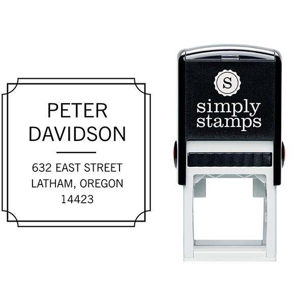 Scalloped Frame Border Return Address Stamp Body and Design