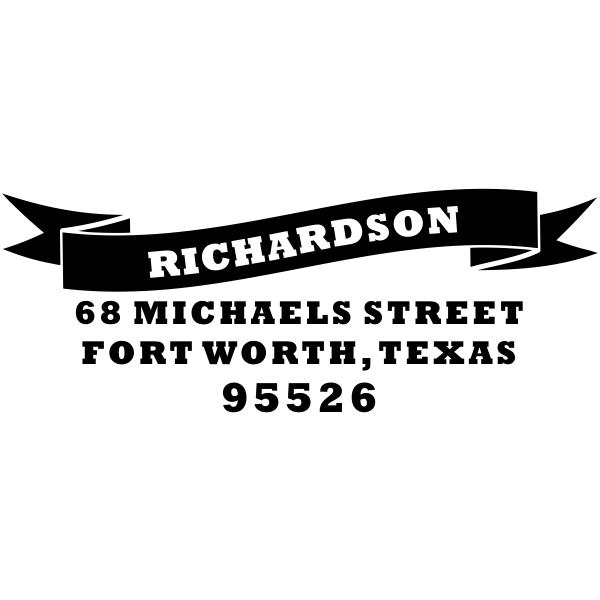 Banner address stamp