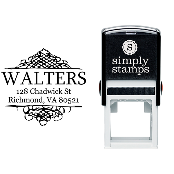 Sharp Curves Accent Return Address Stamp Body and Design