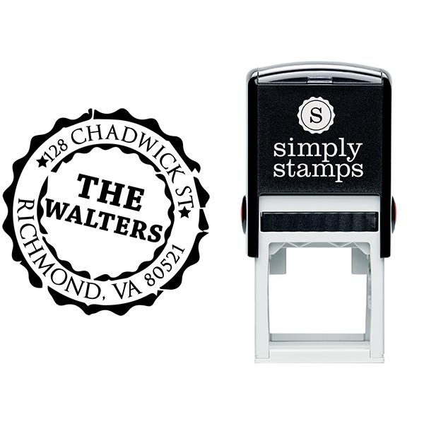 Emblem Stamp Return Address Stamp Body and Design
