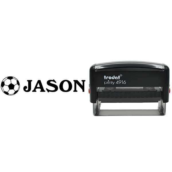 Soccer Ball Name Stamp Body and Design