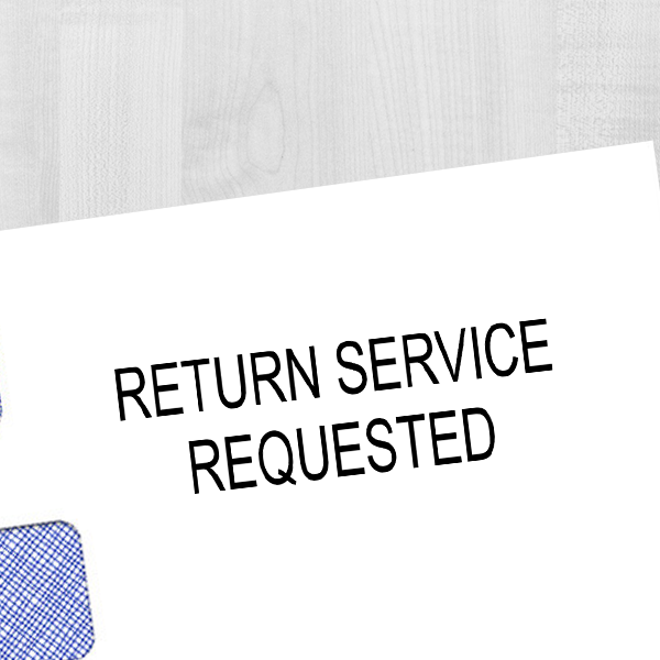 Return Service Requested Rubber Stamp