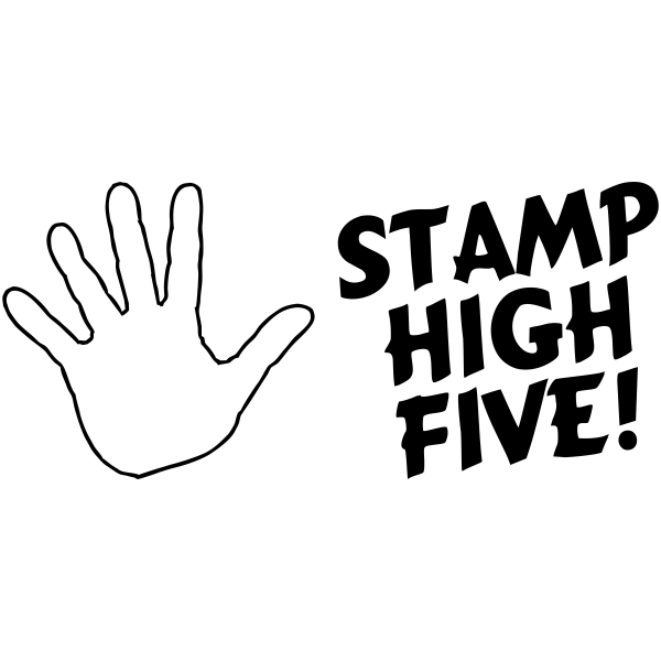 Feedback - High Five Hand Rubber Teacher Stamp