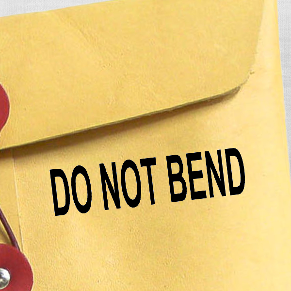 DO NOT BEND Stock Stamp