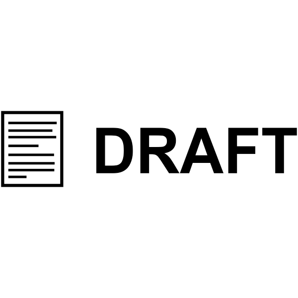 DRAFT Document Stock Stamp Imprint