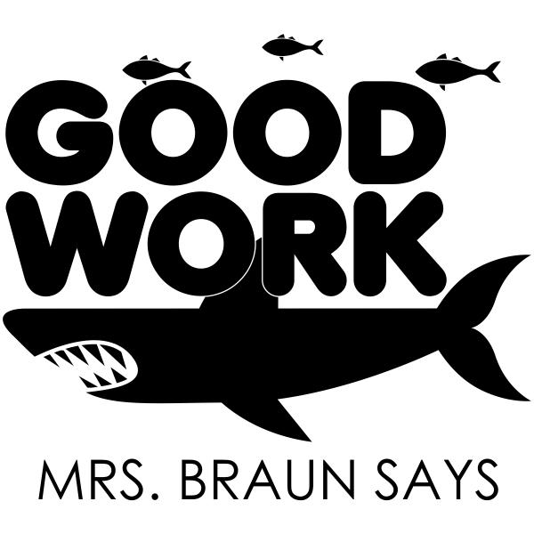 Feedback - GOOD WORK Shark Rubber Teacher Stamp