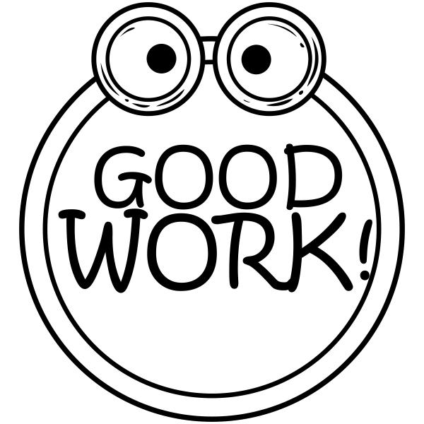 Feedback - GOOD WORK Frog Teacher Rubber Stamp