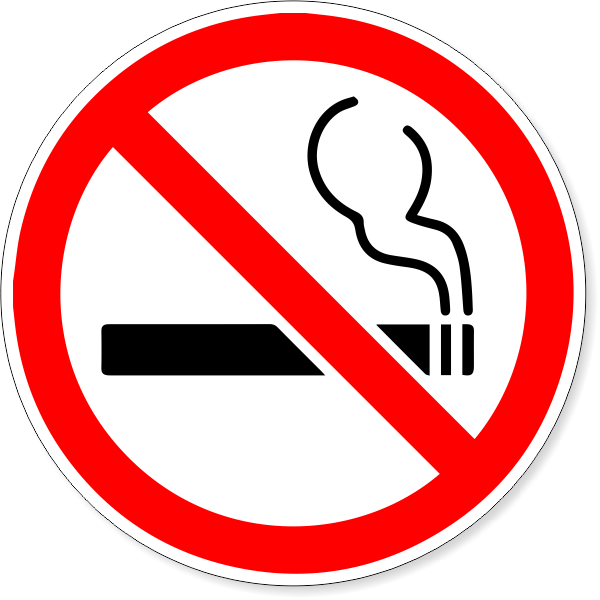 "6"" Round No Smoking Symbol Decal"