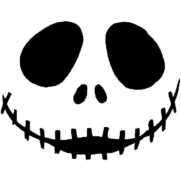 Skeletal Jack Halloween Rubber Stamp