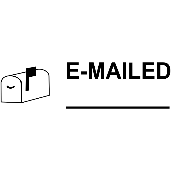 E-MAILED with Mailbox Stock Stamp