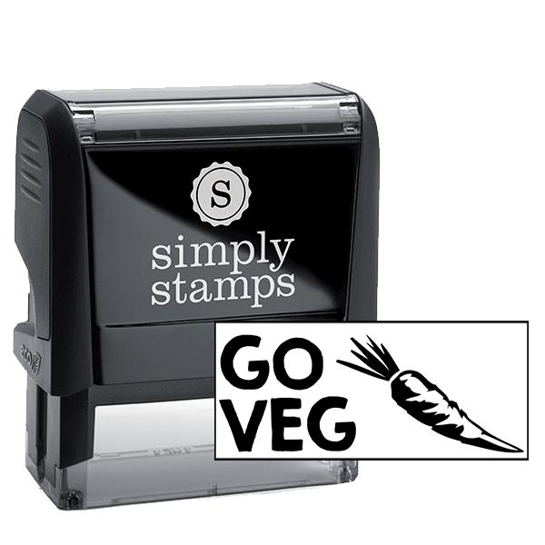 GO VEG Carrot Rubber Stamp