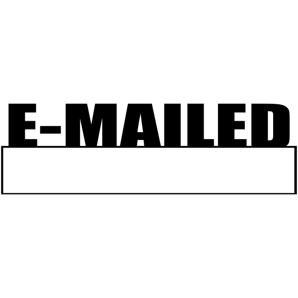 E-MAILED with Box Stock Stamp Imprint