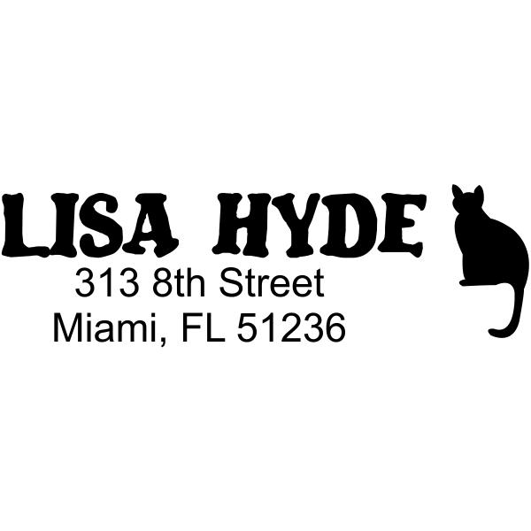 Posing Cat Return Address Stamp