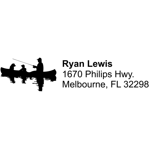 fishing address stamp