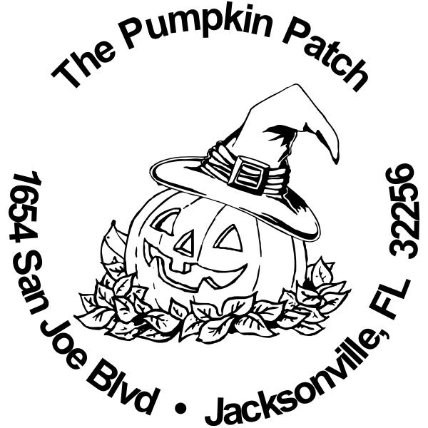 Pumpkin Patch Halloween rubber address stamp