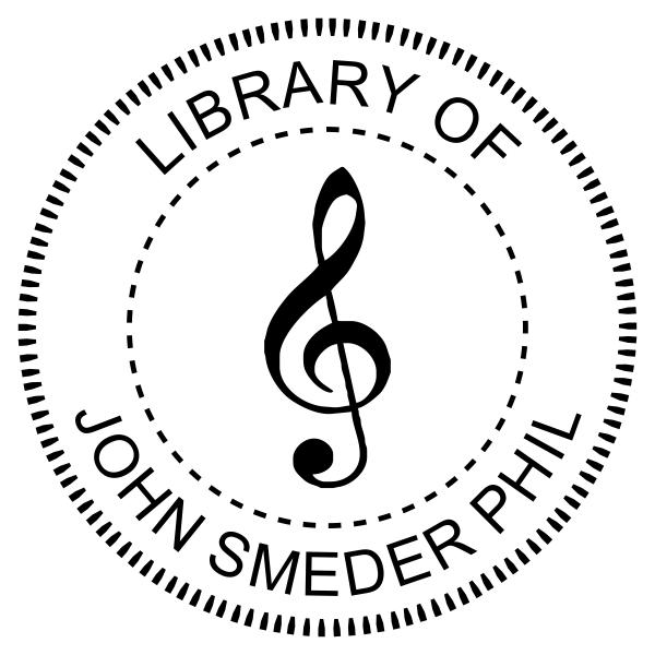 Musical Clef Custom Embosser design